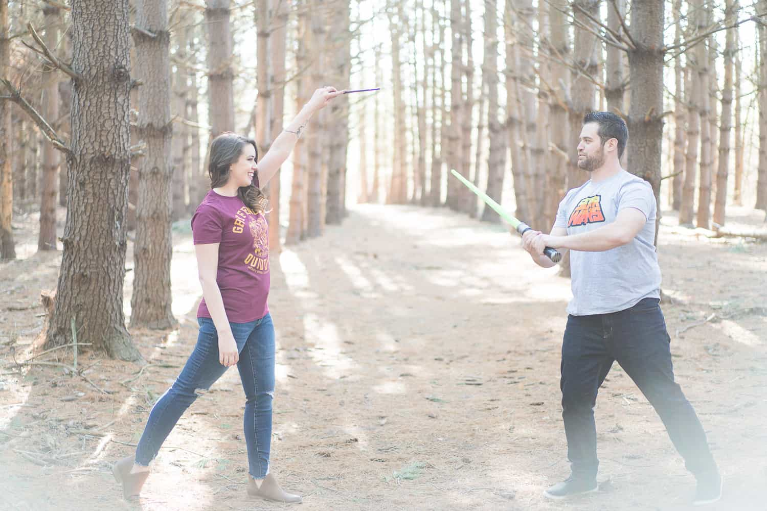 Harry Potter themed engagement session in Kansas City