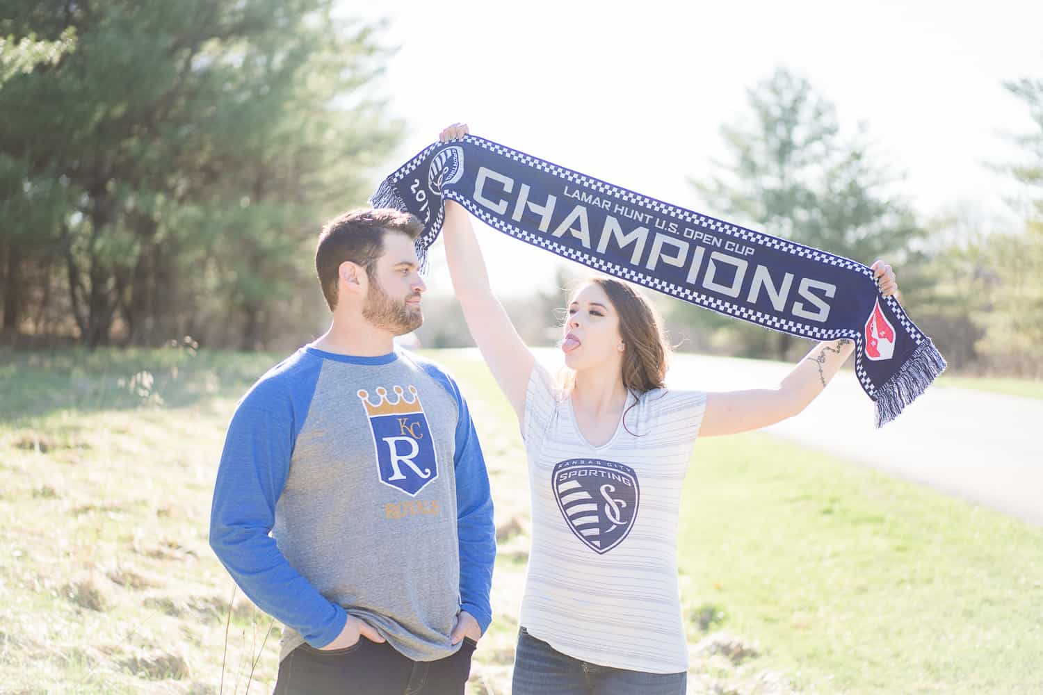 Sporting KC engagement session in Kansas City