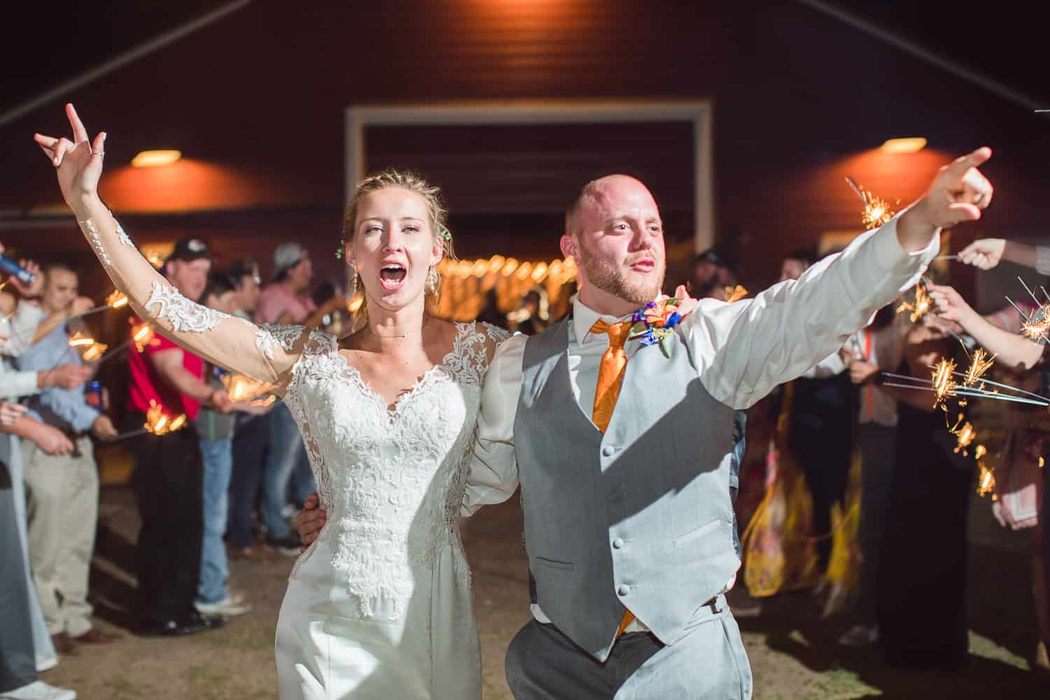 sparkler exit in hutchinson kansas wedding