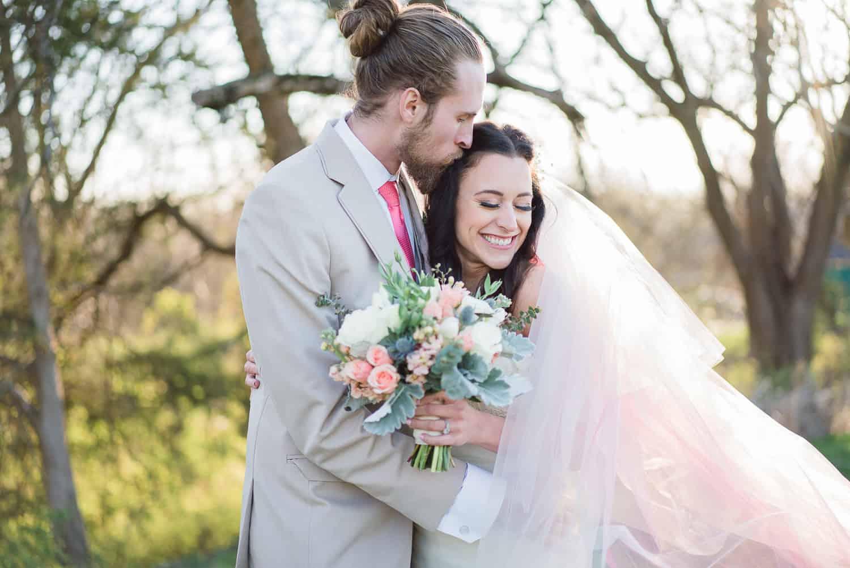 Dip dyed dress wedding inspiration in Kansas