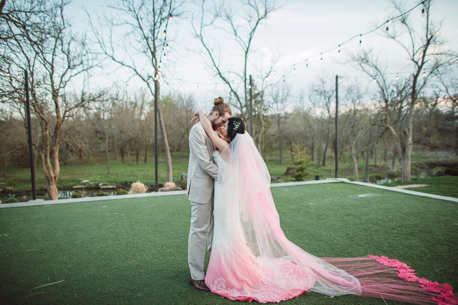 First dance at the Bowery wedding venue in Spring Hill Kansas