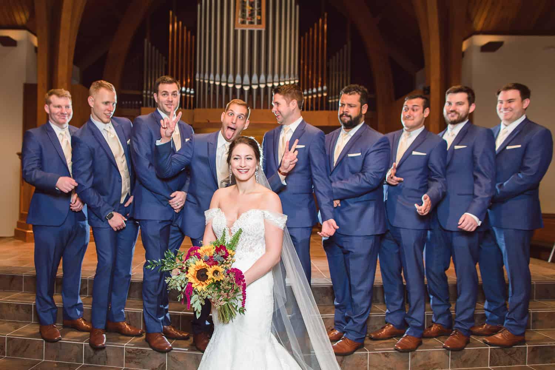 Wedding portraits at Southminster Presbyterian Church in Kansas City