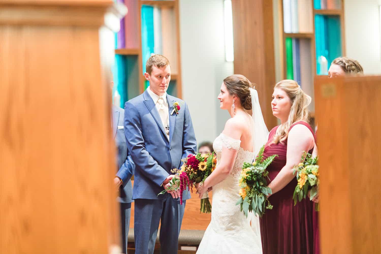 Wedding ceremony at Southminster Presbyterian Church in Kansas City