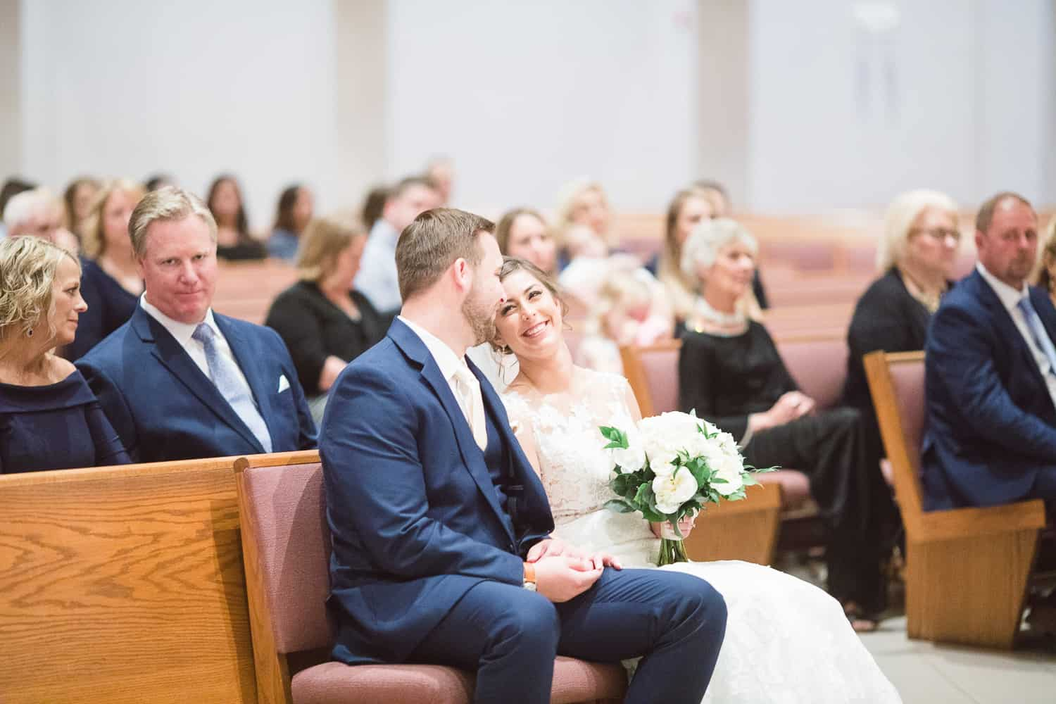catholic wedding ceremony at st therese perish in kansas city