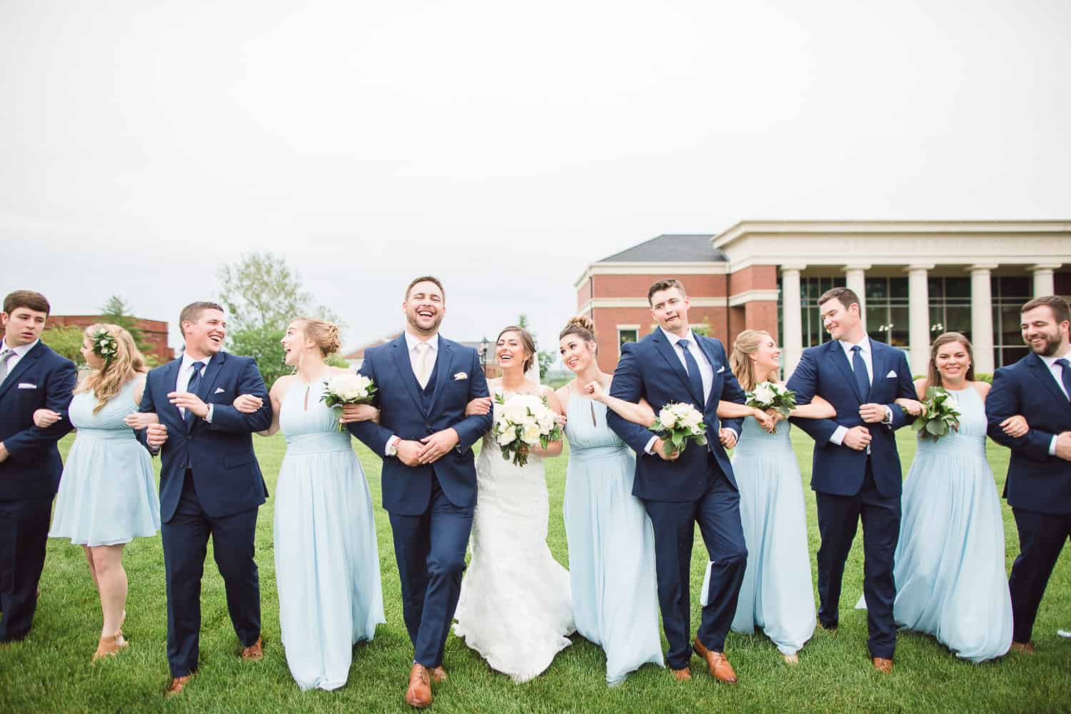 William Jewell college wedding portraits