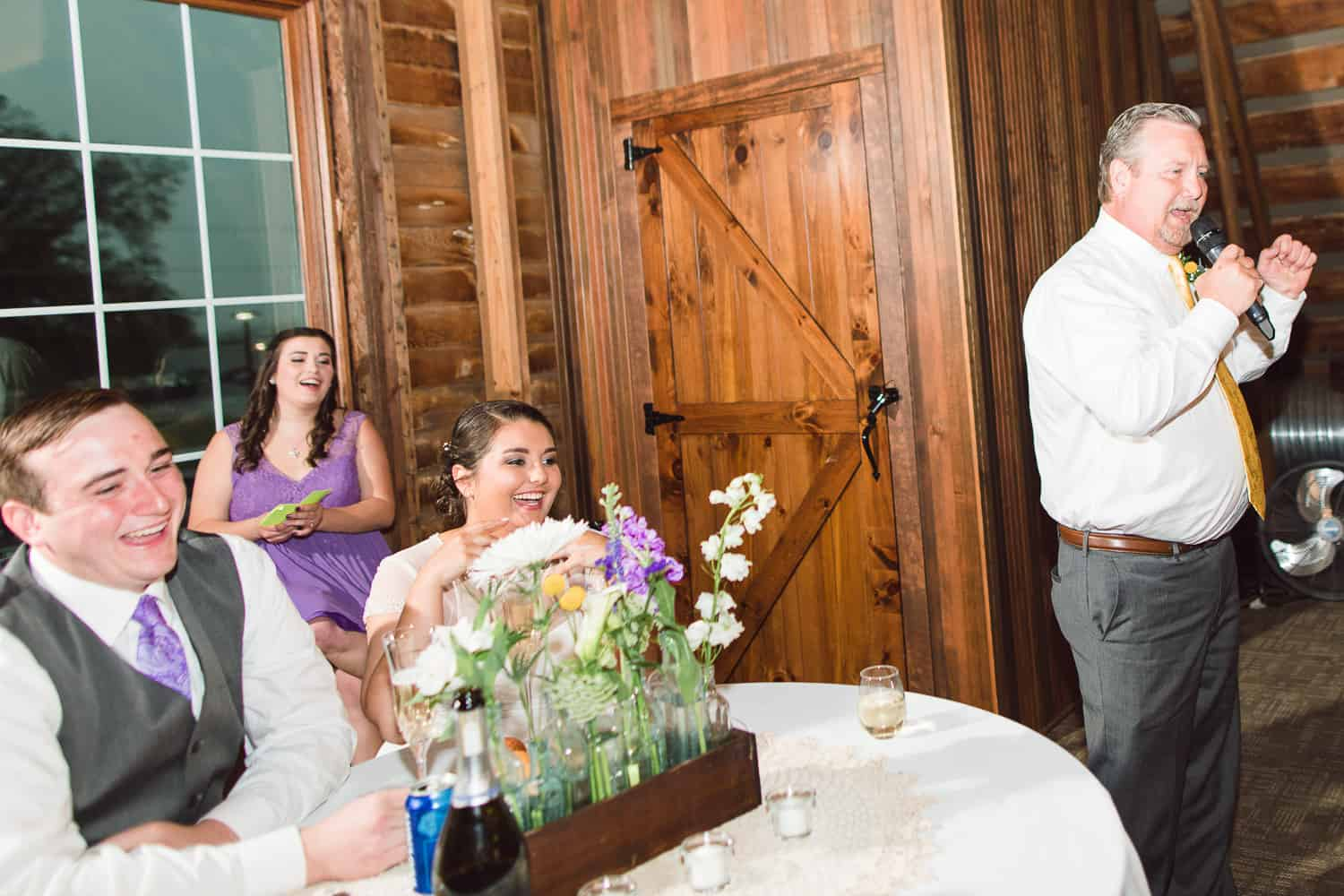 Wedding reception at the brownstone in Topeka