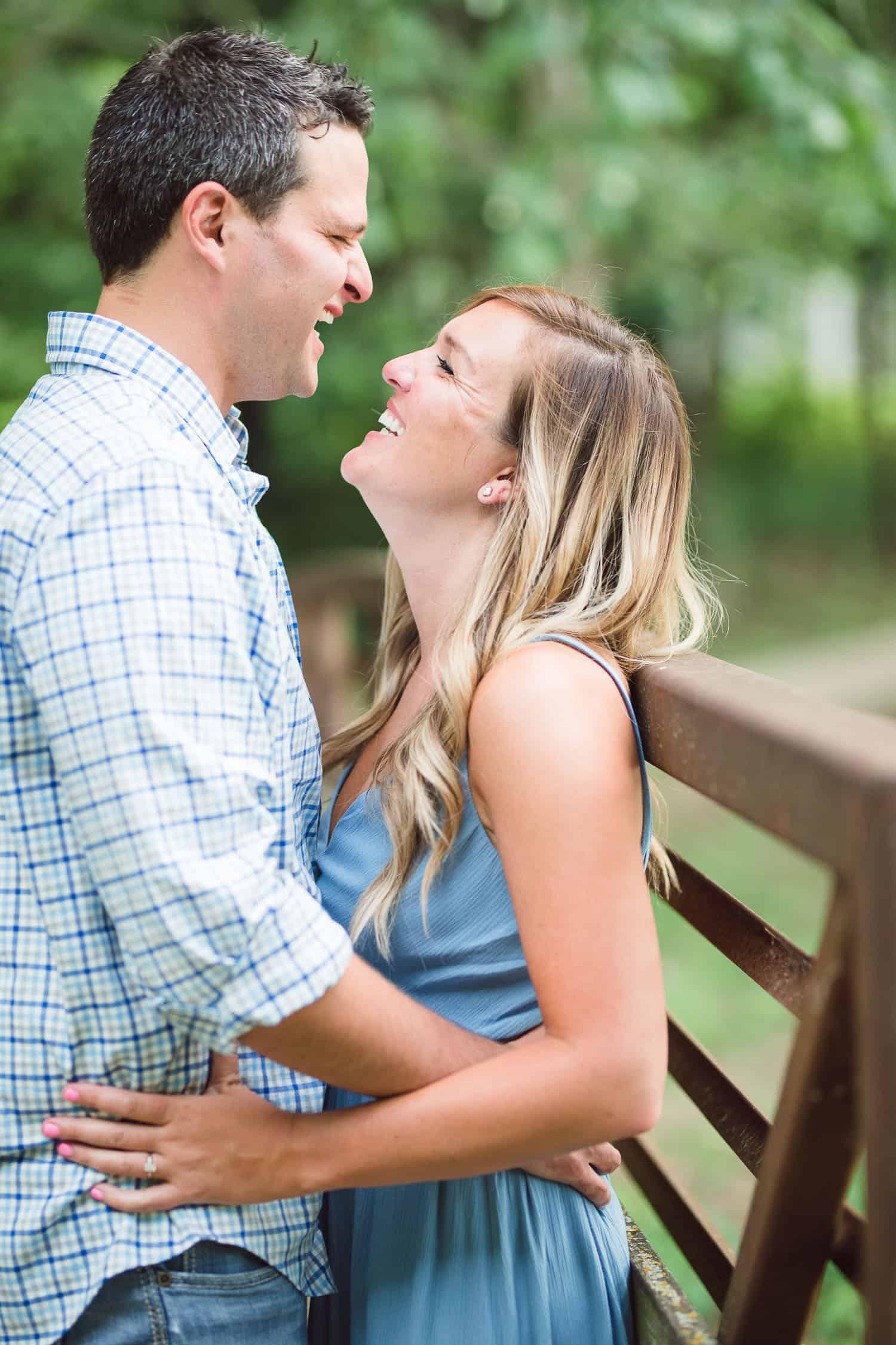 Antioch Park Spring engagement session in Overland Park Kansas