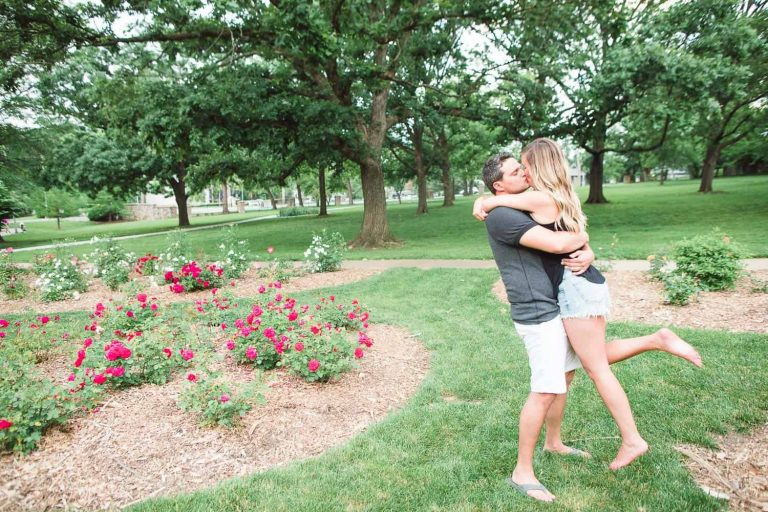 Antioch Park engagement in Overland Park