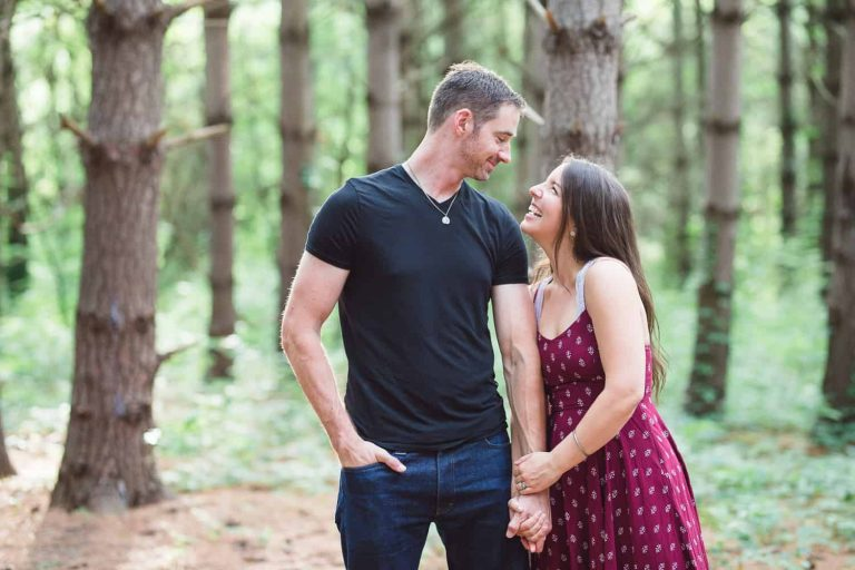 Burr Oak woods blue springs engagement session