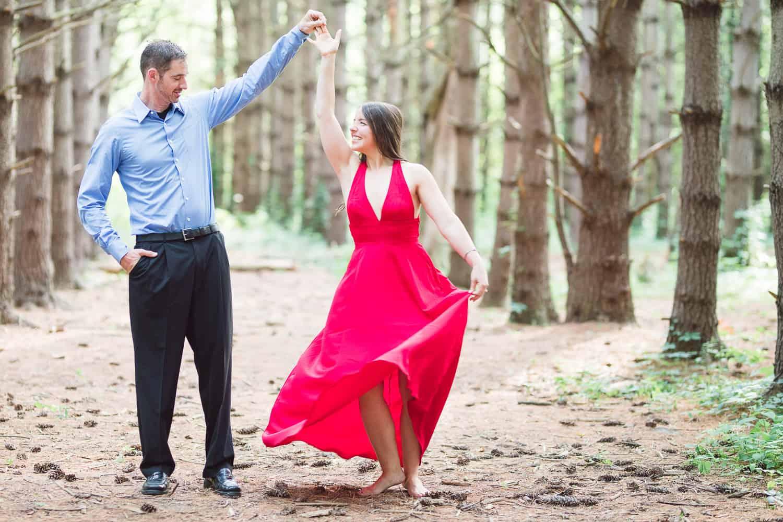 Burr Oak woods blue springs engagement session