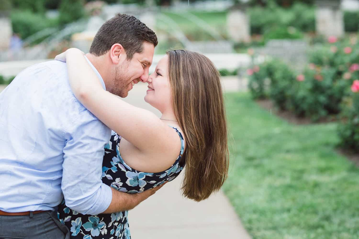 Loose Park engagement session Kansas City