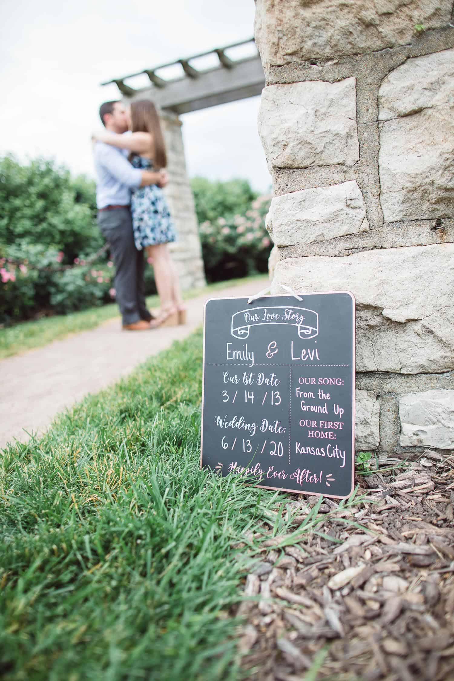 Loose Park engagement session Kansas City