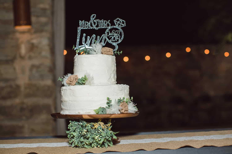 Outdoor wedding reception in Manhattan Kansas