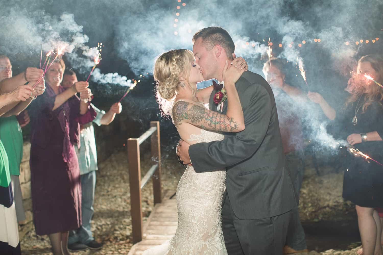 Wedding sparkler exit in Manhattan Kansas