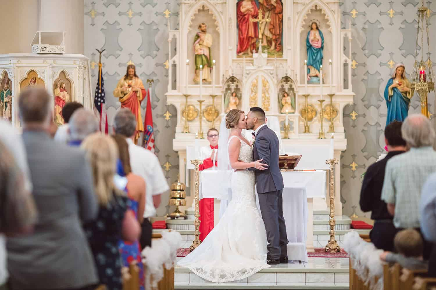 St. John The Baptist Catholic church wedding in Kansas City