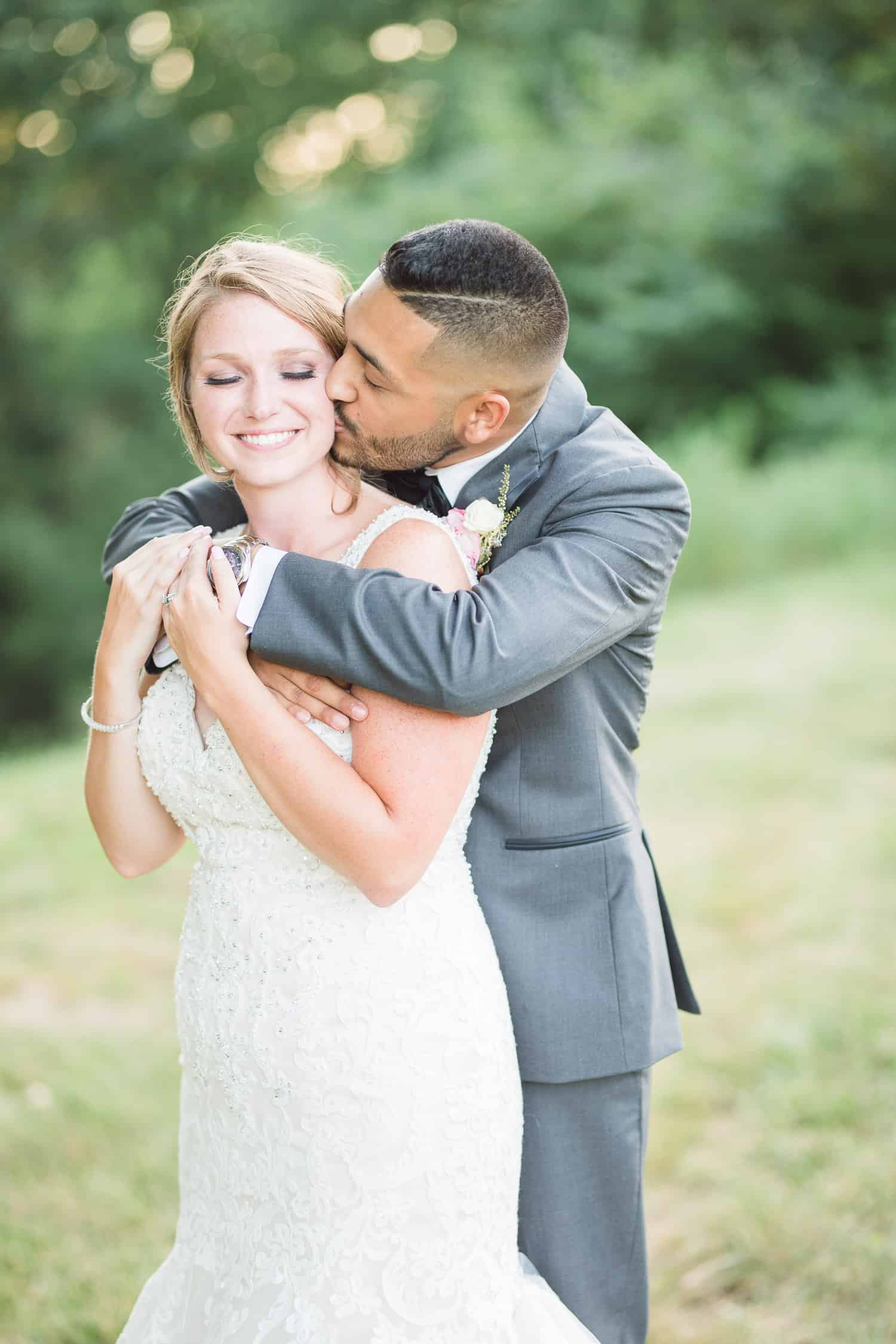 Sunset wedding portraits in Shawnee Kansas
