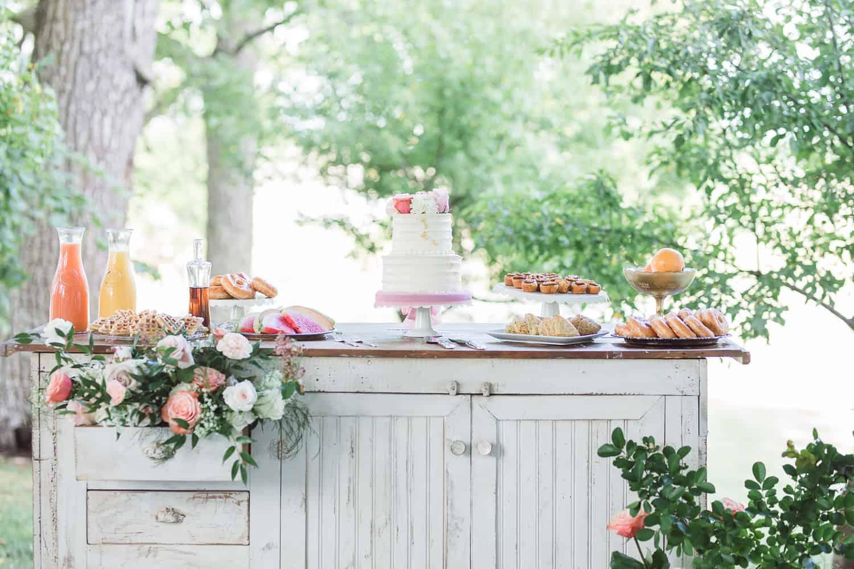 Lavish Whisk bakery cake for summer shoot