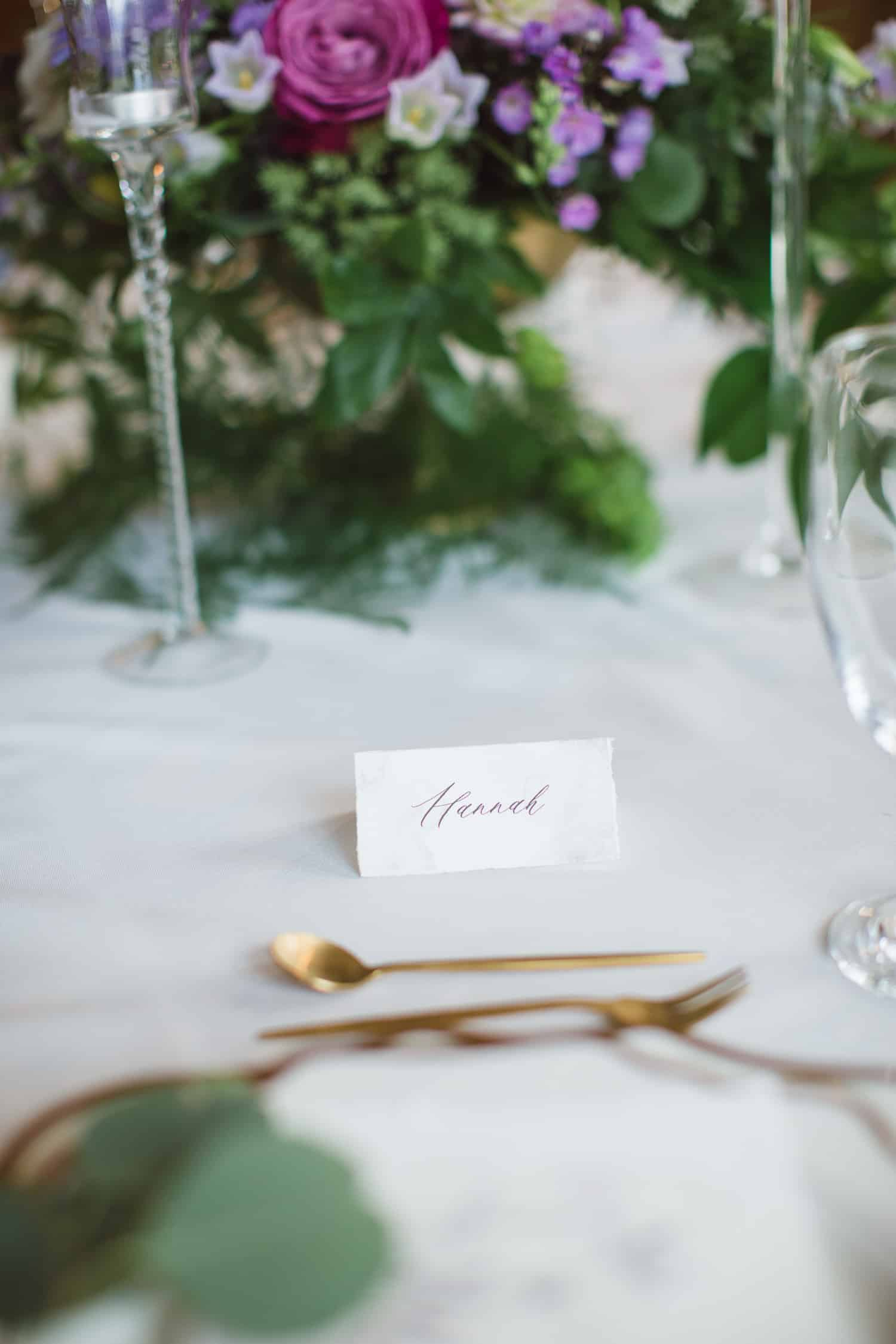 Guest table design by Eleven Events and Planning