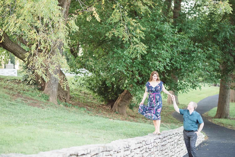 Loose Park summer engagement session