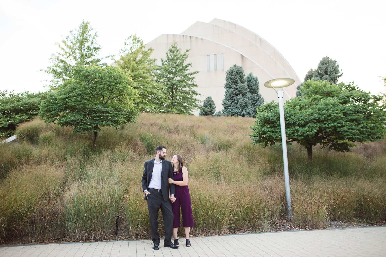 Kauffman Center Kansas City engagement session