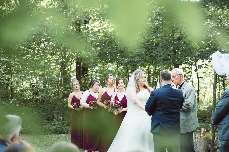 Schwinn Produce Farm outside wedding ceremony