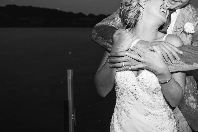 Rainy Missouri wedding