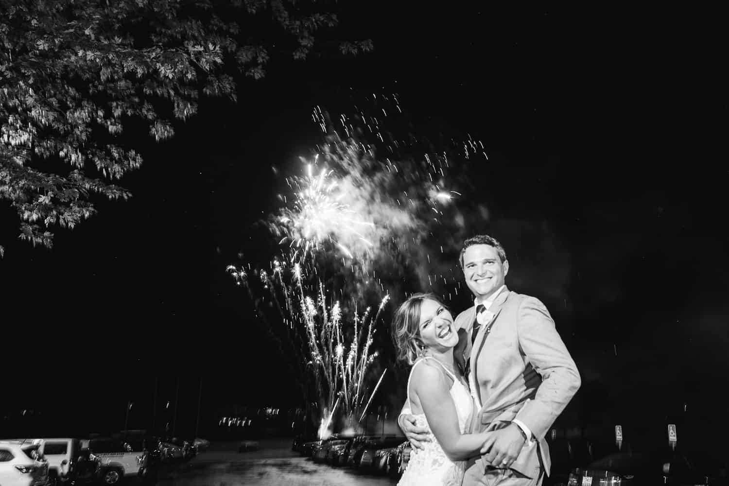 Wedding day fireworks in MIssouri