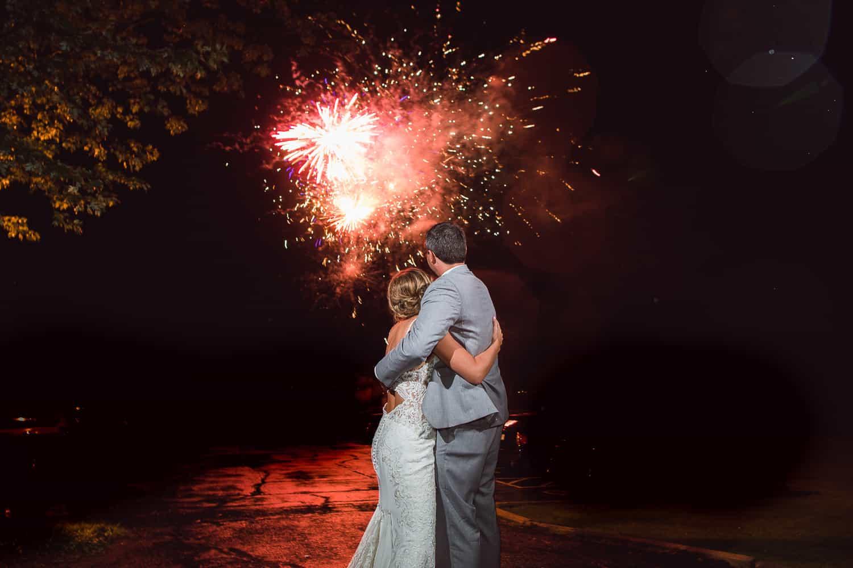 Wedding day fireworks in MIssouri