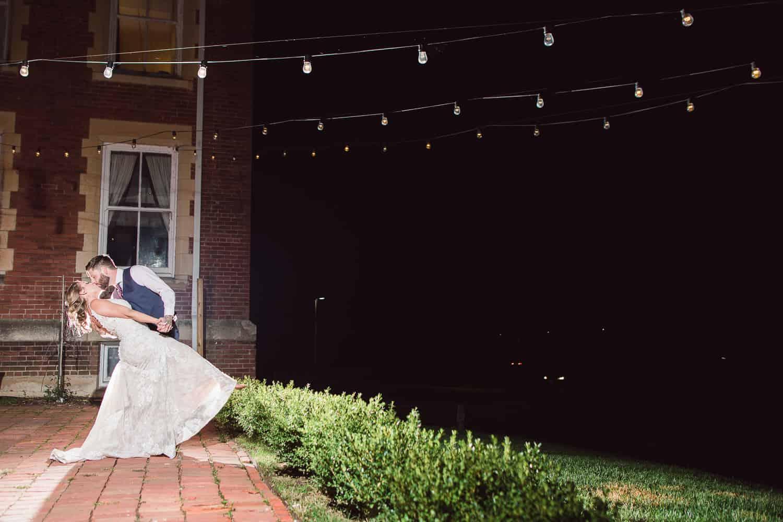 Kansas City night wedding pictures