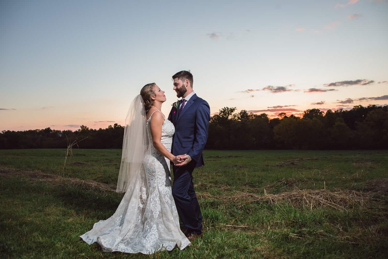 Kansas City sunset wedding pictures