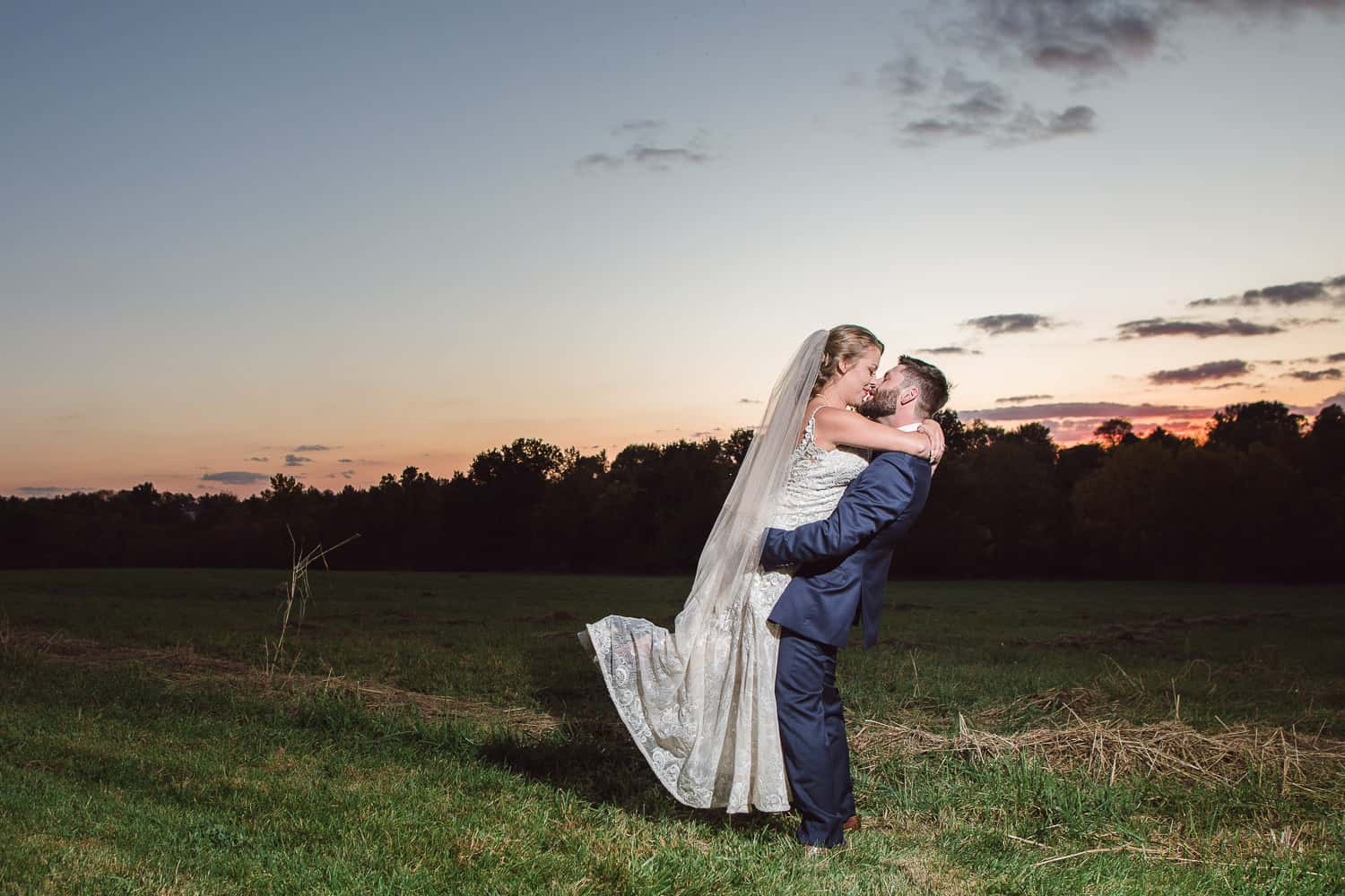 Kansas City sunset wedding photography