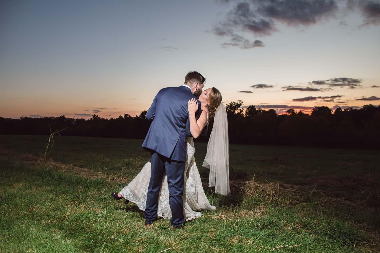 Kansas City sunset wedding photographer