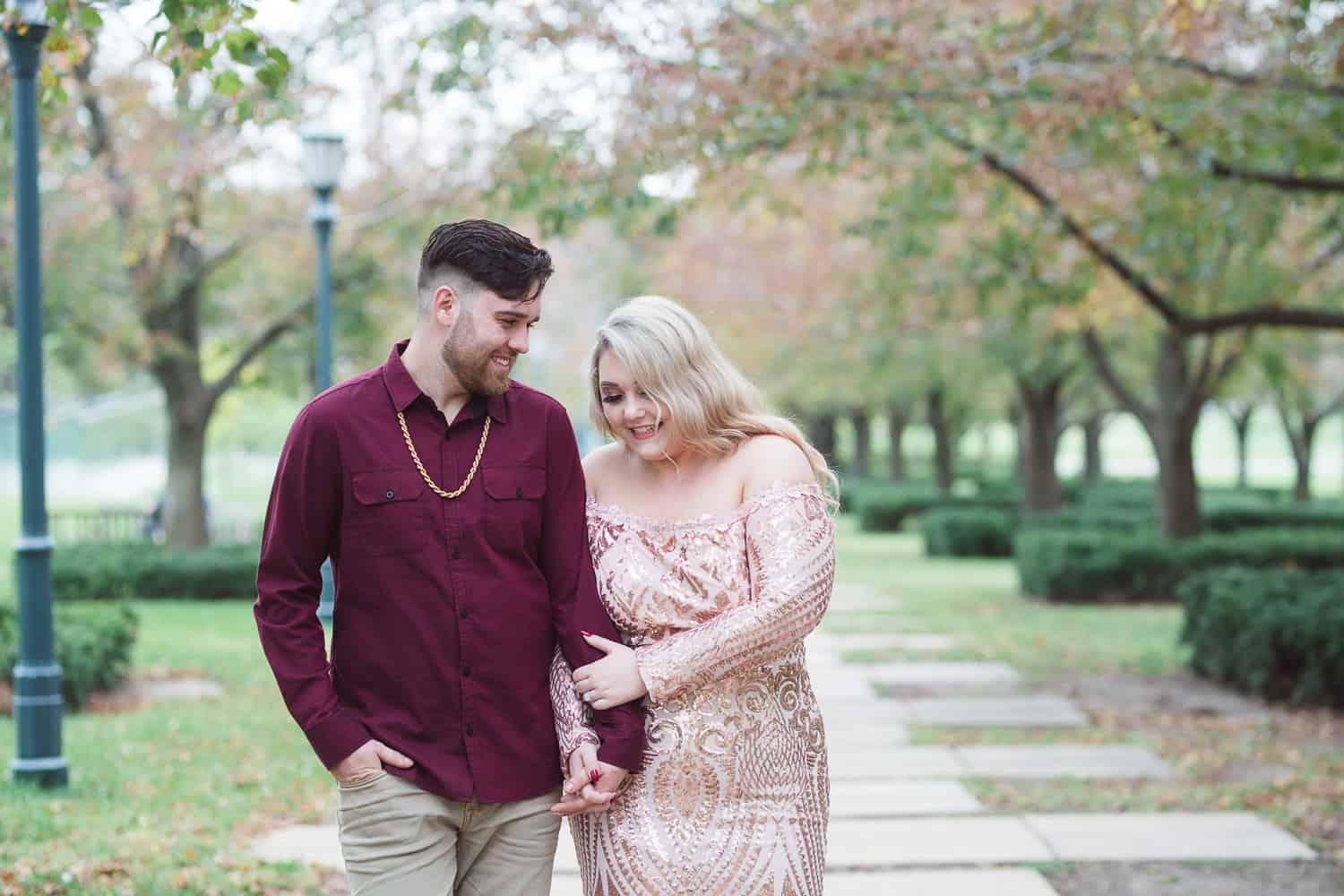 Nelson museum fall engagement session