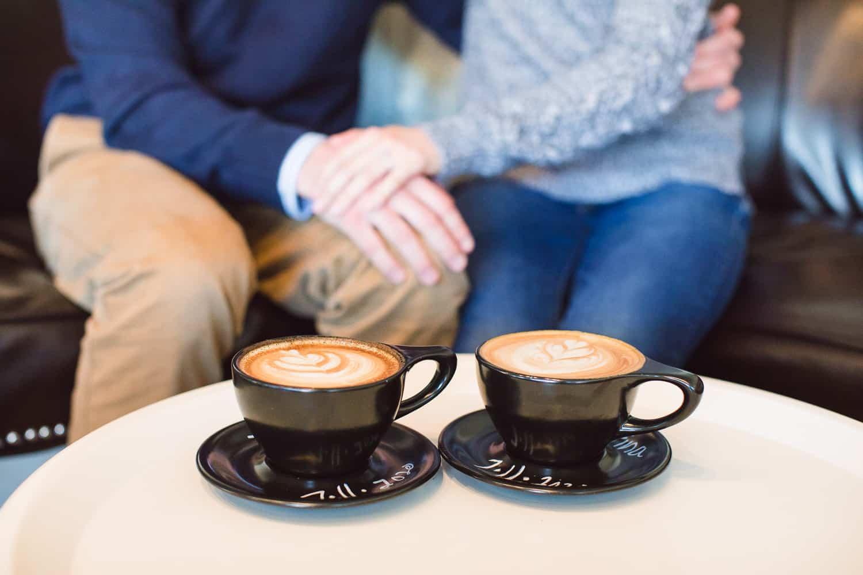 Black Dog Coffee overland park engagement session