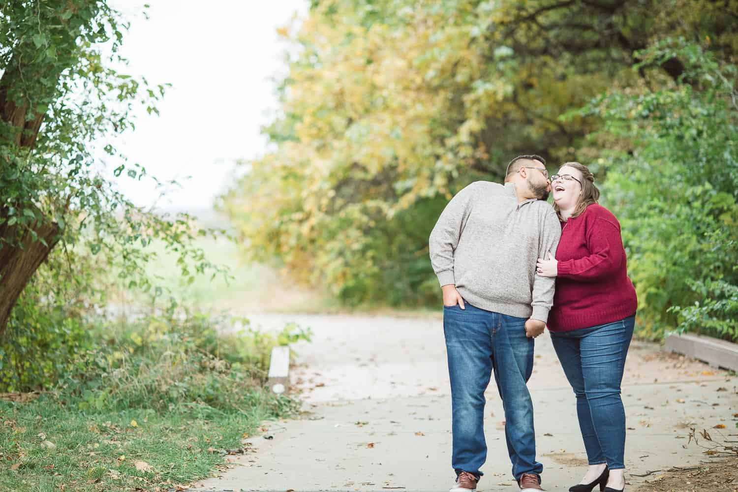 Shawnee Mission Park Fall engagement session