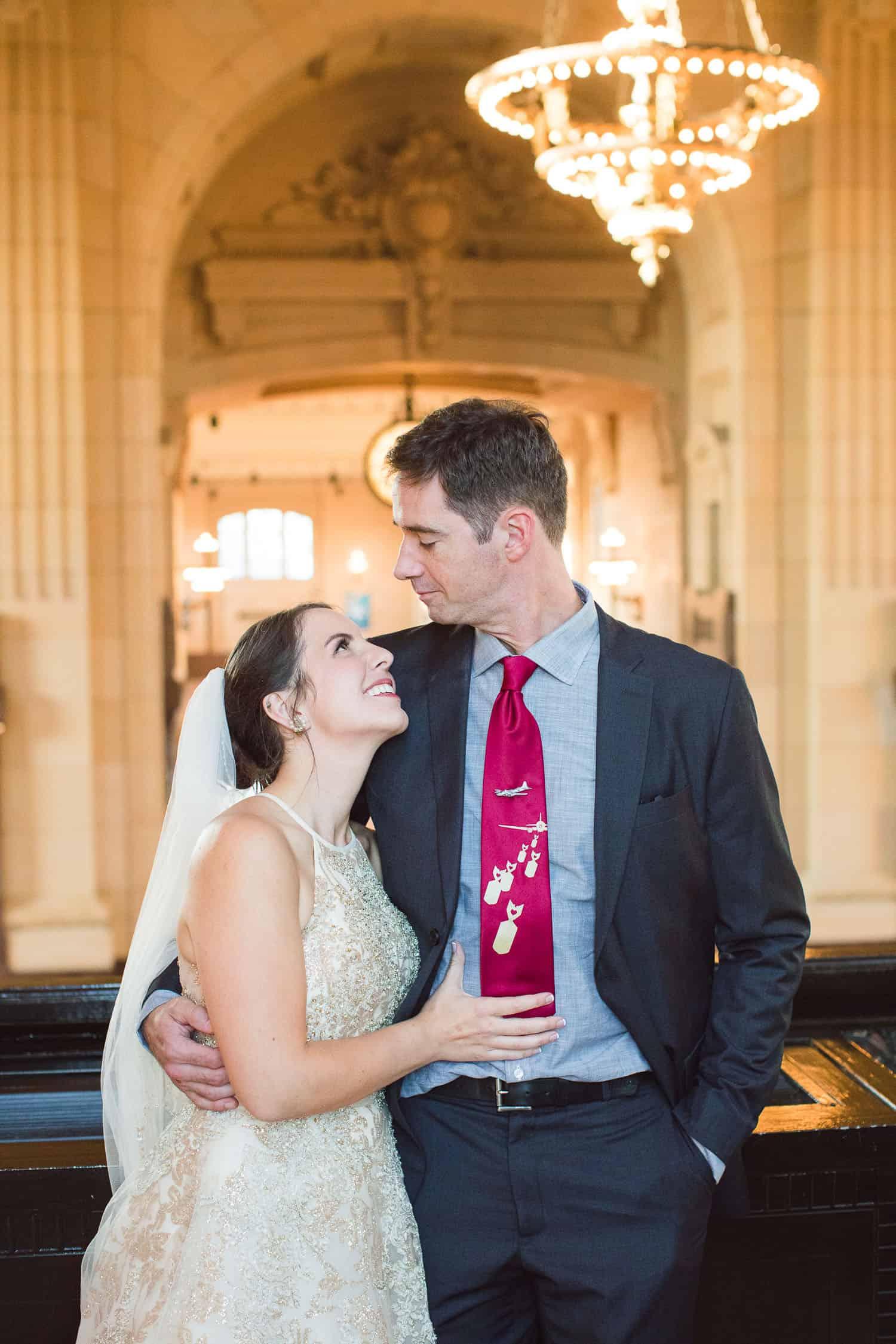 Union Station wedding portraits