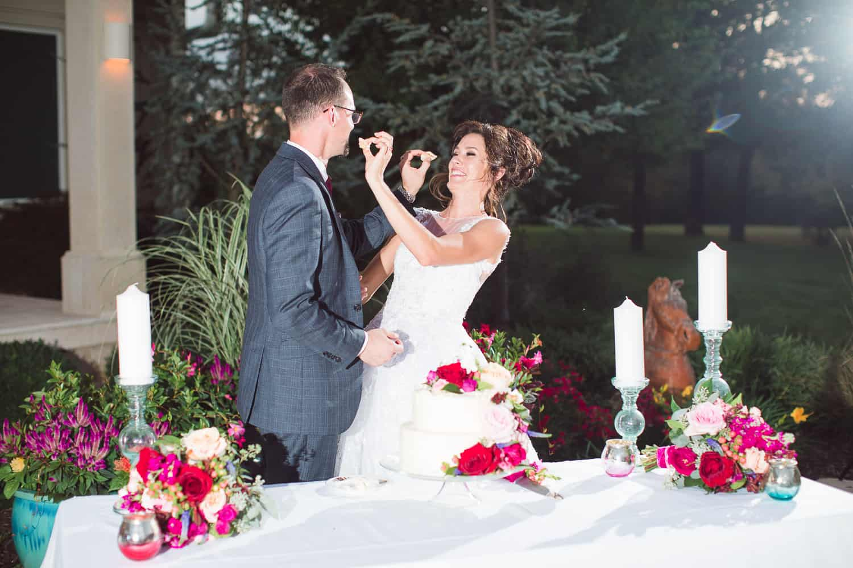 Outdoor Kansas wedding reception