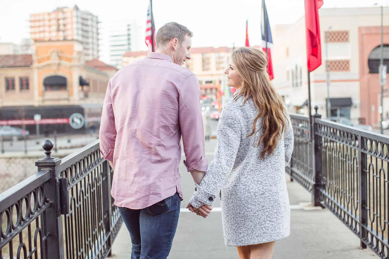 Kansas City winter engagement session