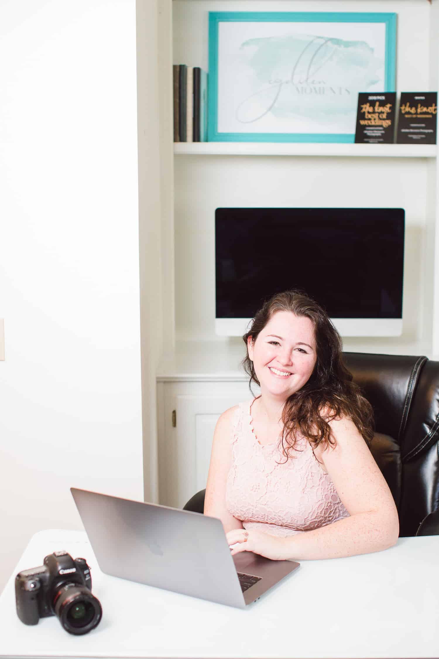 Kansas City wedding photographer home office design