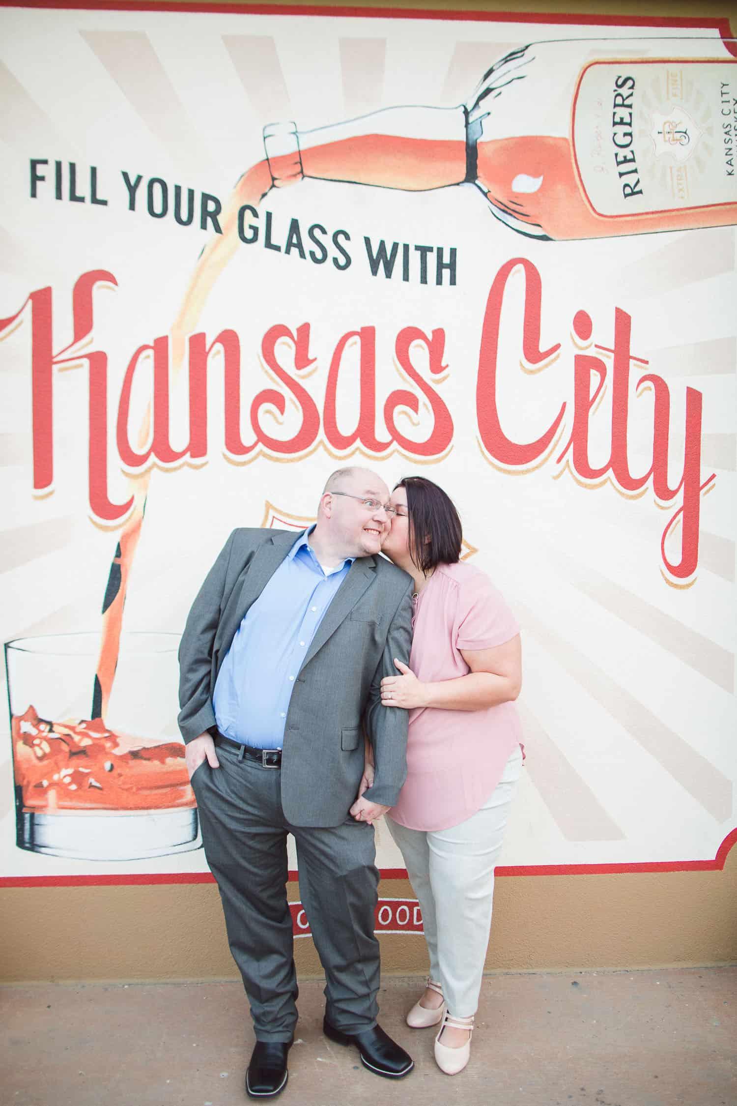 Kansas City crossroads engagement session