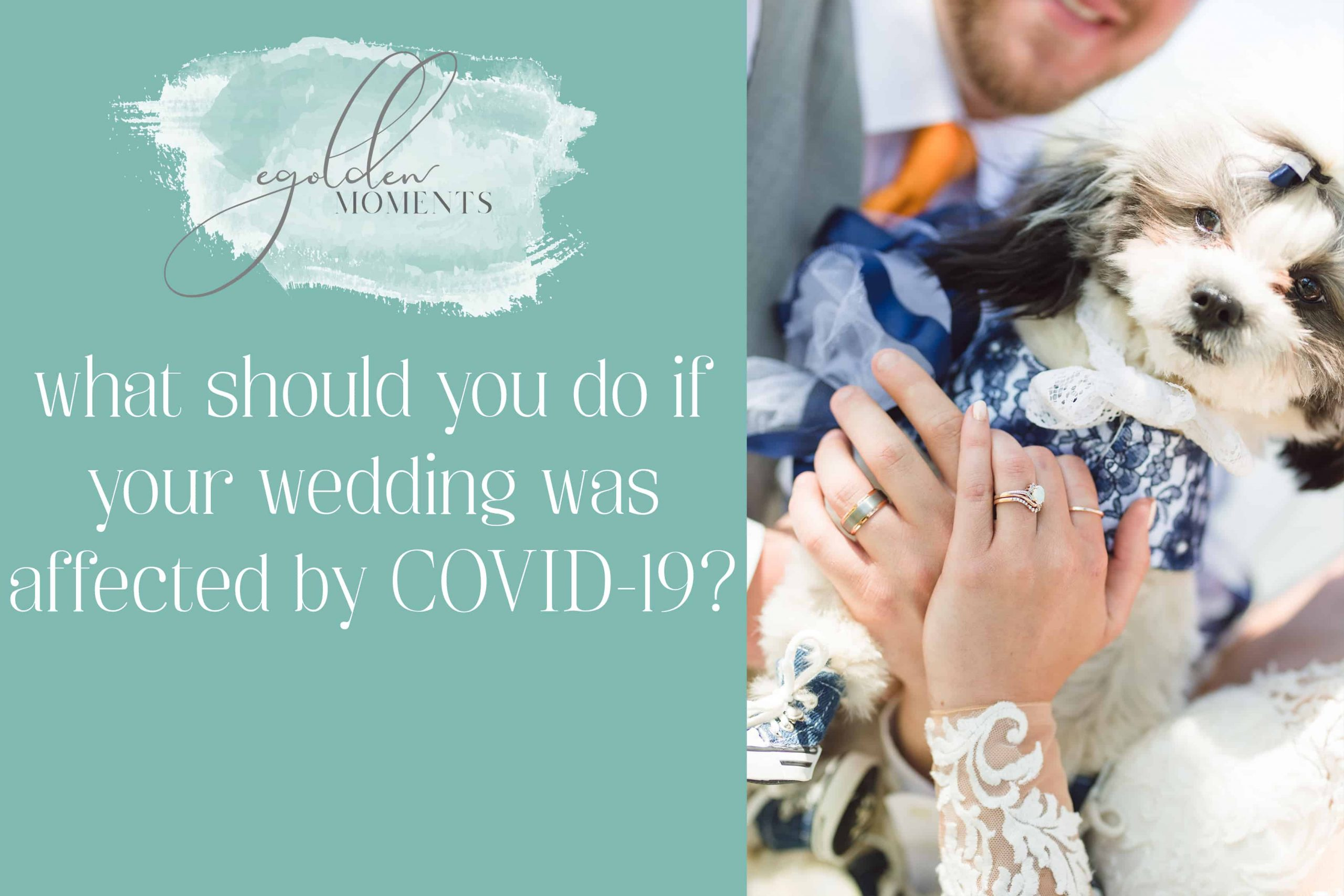 what to do if your wedding was affected by coronavirus