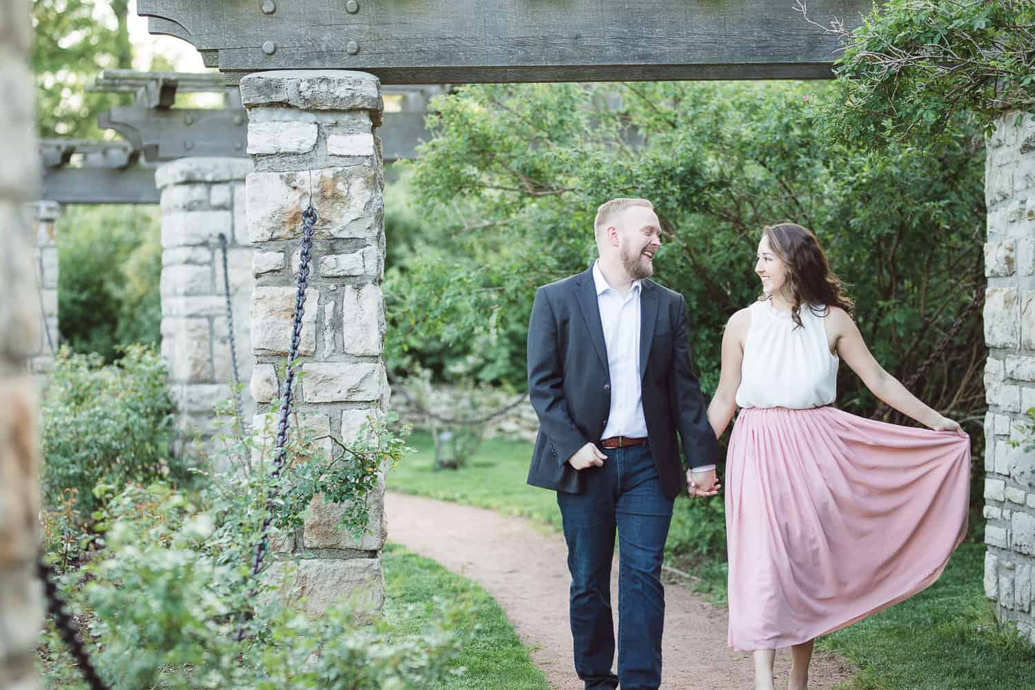 Loose Park rose garden engagement