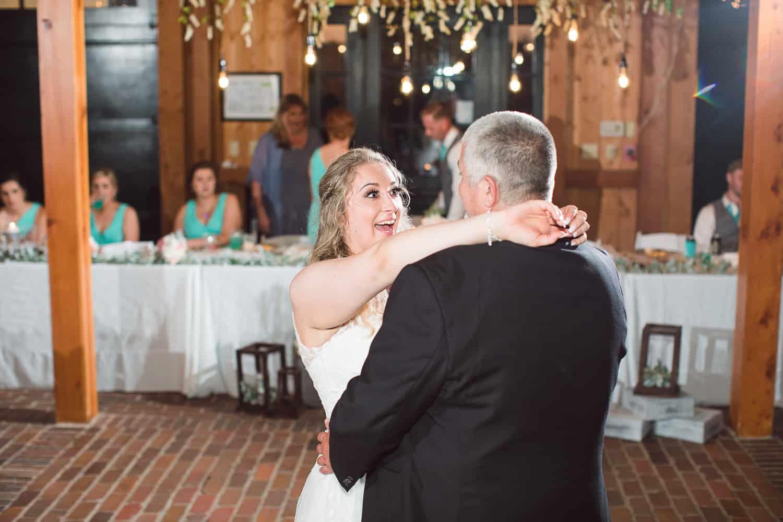 Kansas wedding reception at Mildale Farm