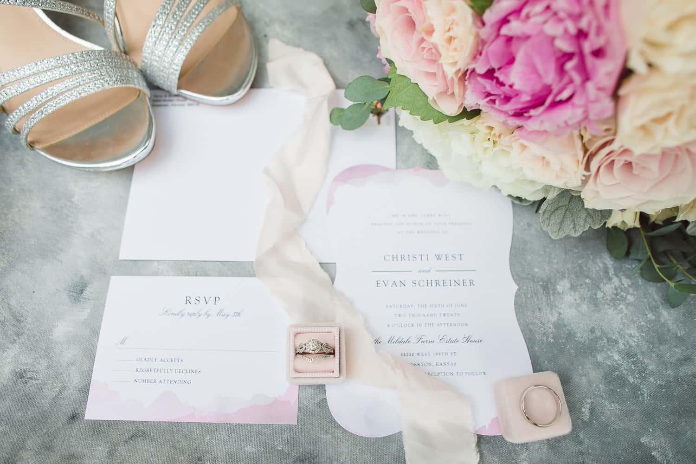 Mildale Farm carriage house blush pink wedding details