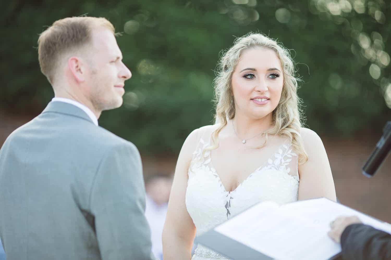 Wedding ceremony at Mildale Farm in Kansas