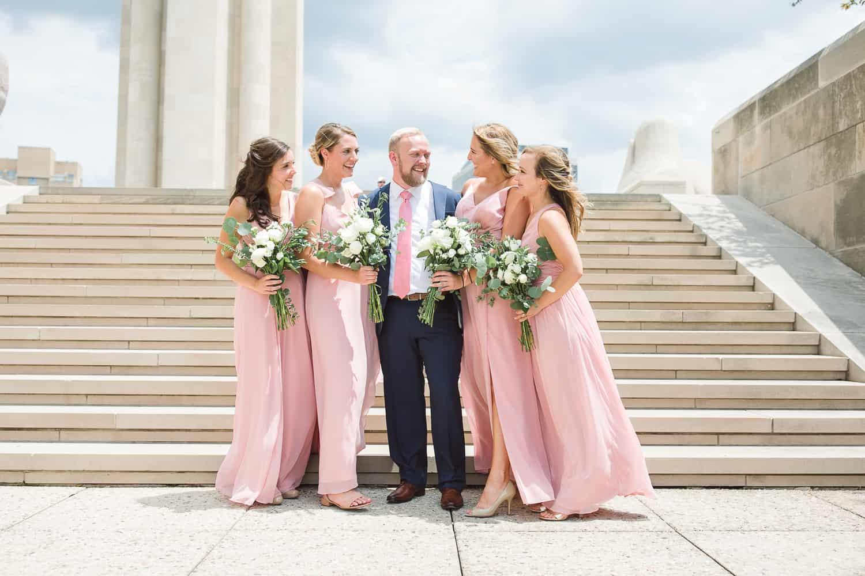 Liberty Memorial Kansas City wedding portraits