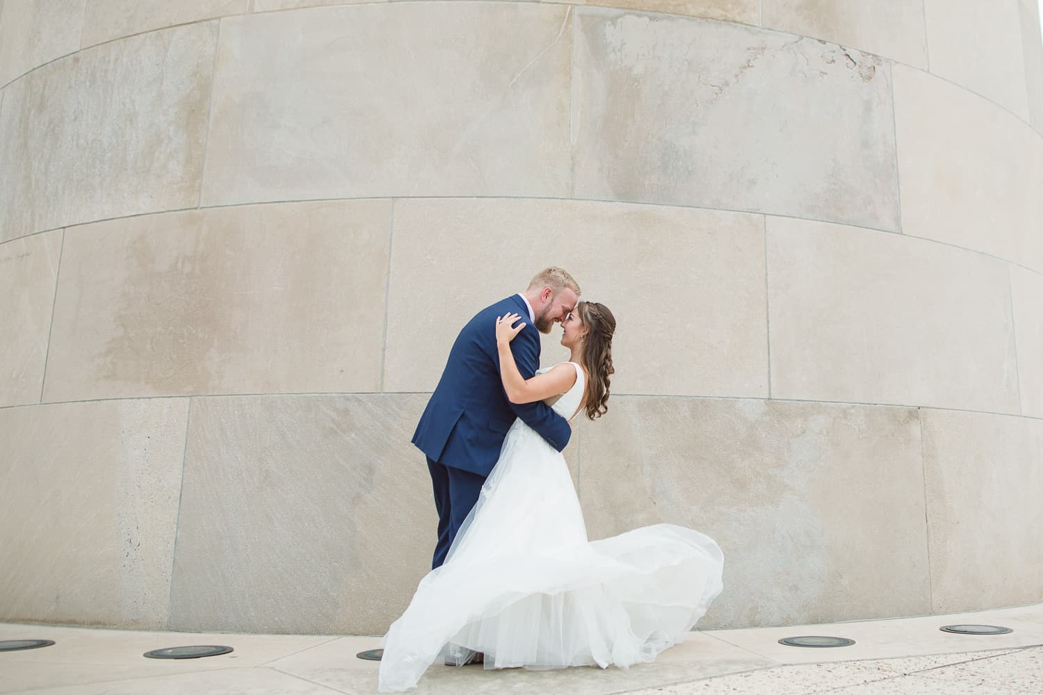 Liberty Memorial Kansas City wedding portraits