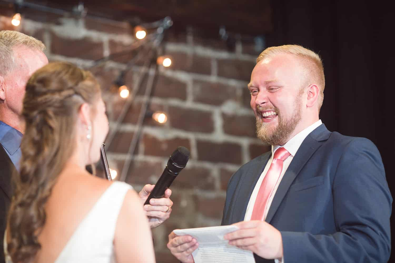Vox Theatre Kansas City wedding ceremony