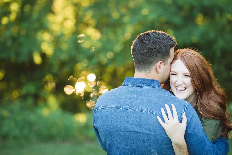 James P Davis Hall engagement photos