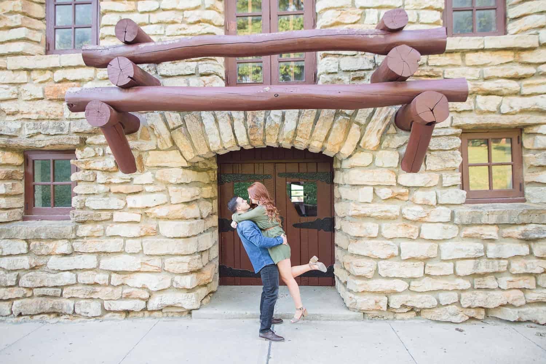 Wyandotte County Lake engagement photos